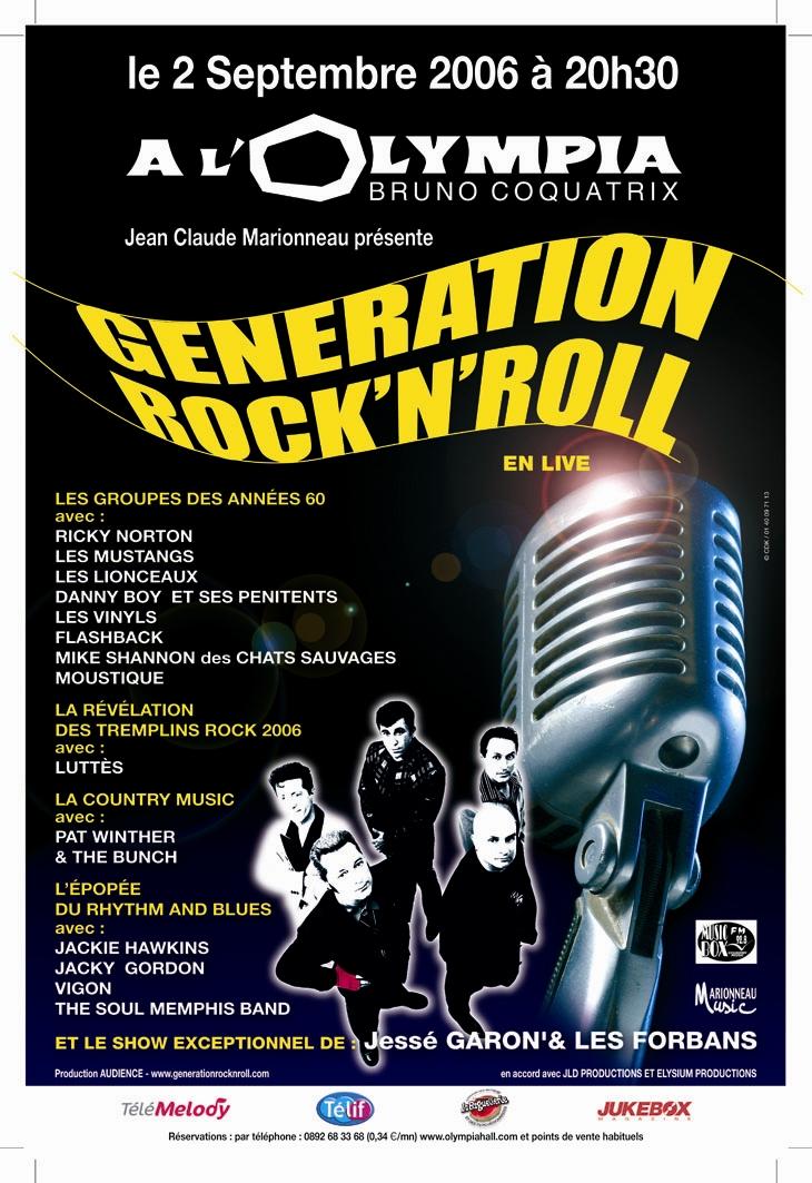 THE BUNCH à l'OLympia - Génération Rock'n'roll